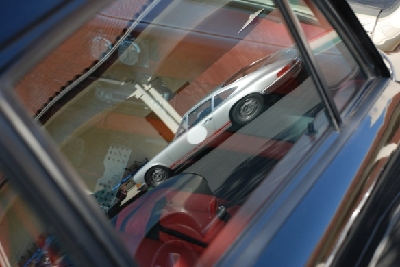 Black Porsche 911ST_side window reflection_RGruppe Solvang Treffen_May 18, 2013