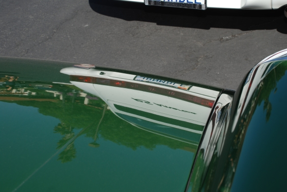 Irish Green Porsche 912_hood reflections, RS America_RGruppe Solvang Treffen_May 18, 2013