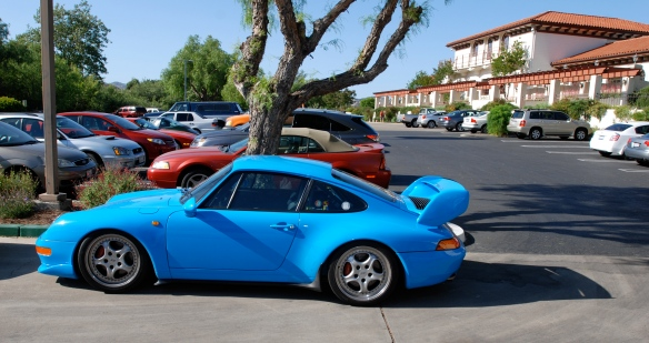 Mexico Blue Porsche 993 Carrera RS Clubsport_ side view_RGruppe Solvang Treffen_May 18, 2013