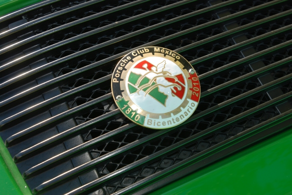 Viper green Porsche 911 Carrera RS_ rear grill badge shot_RGruppe Solvang Treffen_May 18, 2013