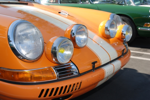Orange and white striped Porsche 911ST  recreation_ accessory light details_RGruppe Solvang Treffen_May 18, 2013