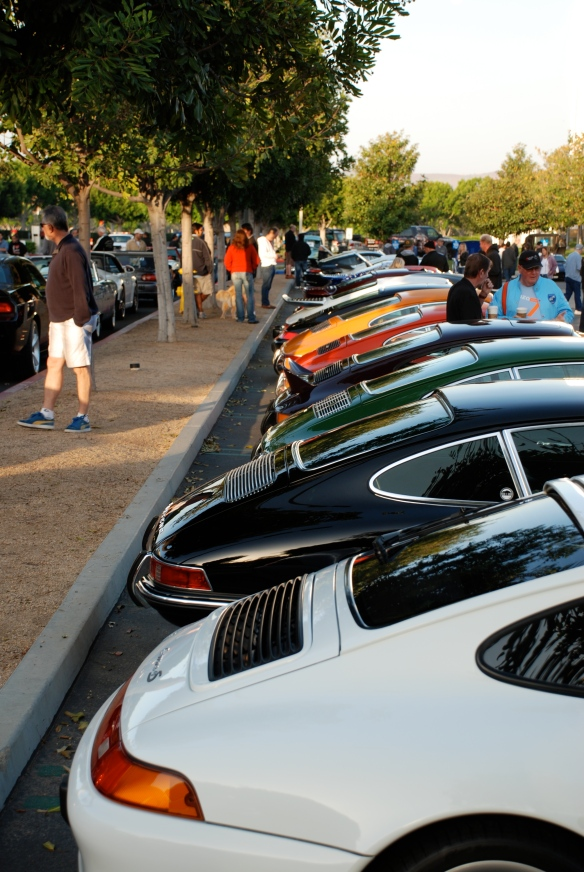 Porsche row color_stacked side view down entire row_Cars&Coffee/Irvine_April 27, 2013