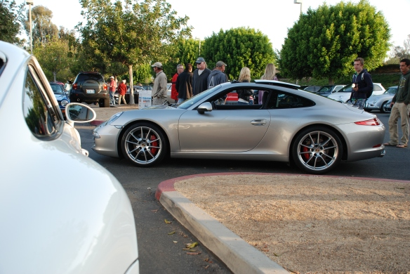 Porsche row color_white 993 Carrera 4S and 2013 Type 991, 911 Carrera S, side view _Cars&Coffee/Irvine_April 27, 2013