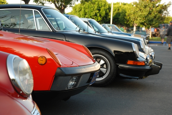 Porsche row color_914-6 and early 911 front ends long shot_Cars&Coffee/Irvine_April 27, 2013