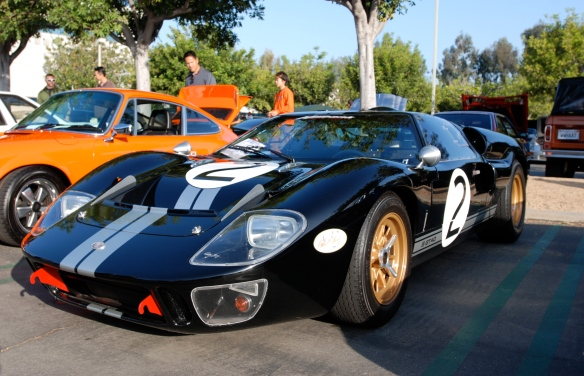Black Ford GT 40 tribute_ 3/4 front view_Cars&Coffee/Irvine_April 27, 2013