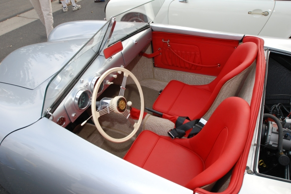 Porsche 356-01 recreation_ interior overview, from drivers side_C&C show-June 22, 2013