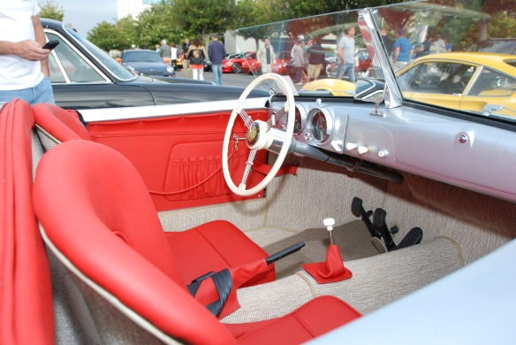Porsche 356-01 recreation_Interior shot from passenger side_C&C show-June 22, 2013