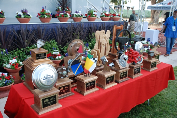 Trophy table display_table 2 shot _Boys Republic / Steve McQueen car&motorcycle show _June 1, 2013