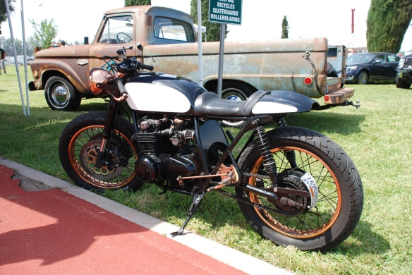 "Kott Motorcycles / ""The Patina"" bike_side view_Boys Republic / Steve McQueen car&motorcycle show _June 1, 2013"