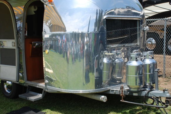 Shorty Airstream trailer & Jeep_front window & reflections_Boys Republic / Steve McQueen car&motorcycle show _June 1, 2013