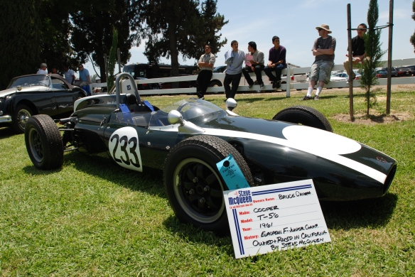 Ex- Steve McQueen, 1961 Cooper T-56 race car _3/4 front view _Boys Republic / Steve McQueen car&motorcycle show _June 1, 2013