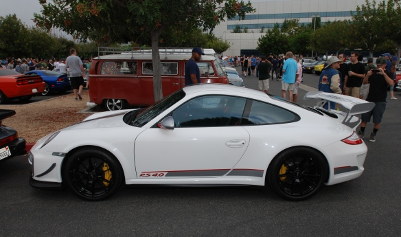 White Porsche GT3RS4.0_side view_cars&coffee_ July 13, 2013