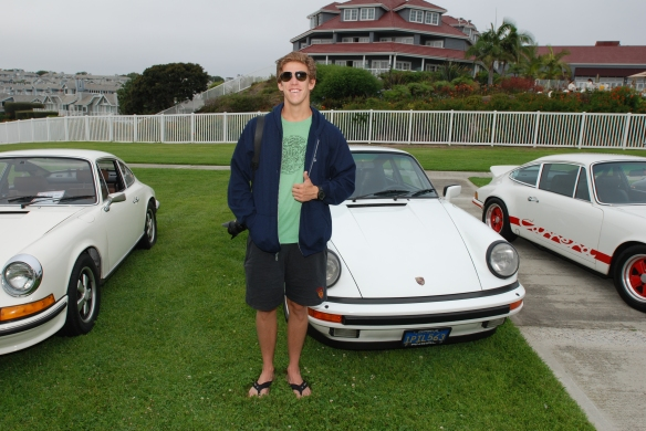 Thumbs up from my son_ 356 Club of California Dana Point Concours_ July 21, 2013