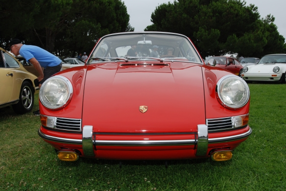 Red 1964 Porsche 901_ front view_ 356 Club of California Dana Point Concours_ July 21, 2013