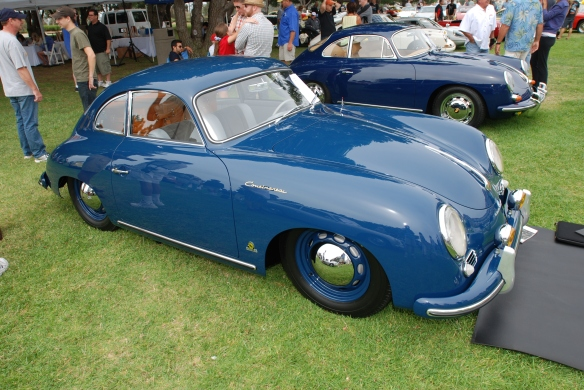 Blue Porsche 356 continental coupe_3/4 side view_356 Club of California Dana Point Concours_ July 21, 2013