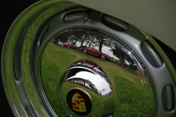356 nipple hubcap_ close up reflections_ 356 Club of California Dana Point Concours_ July 21, 2013