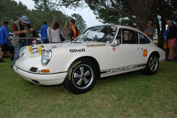 White 1967 Porsche 911R_3/4 front view_356 Club of California Dana Point Concours_ July 21, 2013