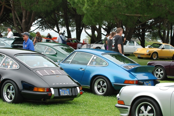 RGruppe parking area_ a trio of 911S models_ 3/4 side view_ 356 Club of California Dana Point Concours_ July 21, 2013