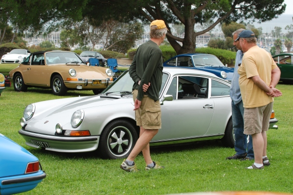 RGruppe parking area_ Silver euro spec 911S _ 3/4 side view_ 356 Club of California Dana Point Concours_ July 21, 2013