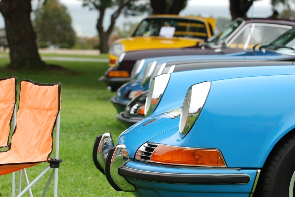 RGruppe parking area_ 911 noses _ side view_ 356 Club of California Dana Point Concours_ July 21, 2013