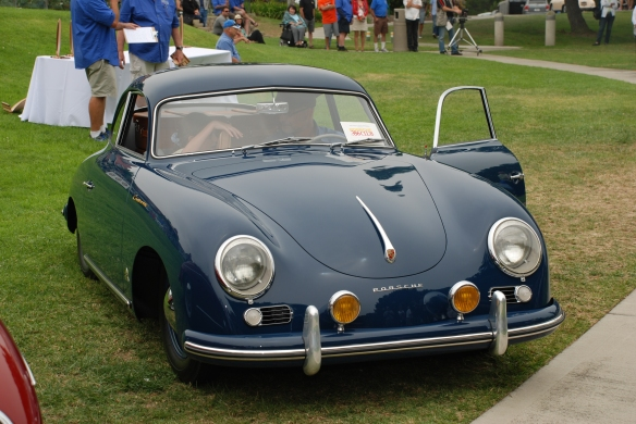 Dark Blue Porsche 356A coupe__trophy winner_356 Club of California Dana Point Concours_ July 21, 2013