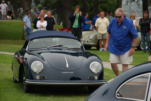 Azure Blue Porsche 356 speedster__trophy winner_356 Club of California Dana Point Concours_ July 21, 2013