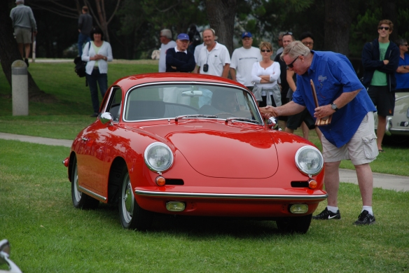 Signal Red 1964 Porsche 356 Carrera 2 coupe_class winner & best of show winner_356 Club of California Dana Point Concours_ July 21, 2013