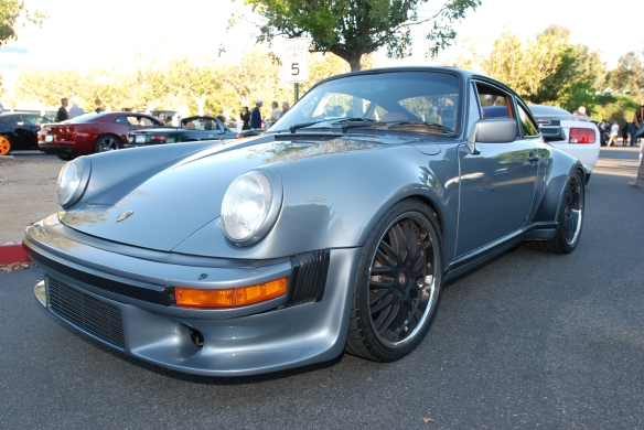 Slate Gray 1984 Porsche 930 Turbo_3/4 front view_Cars&Coffee/Irvine_ 9//30/13