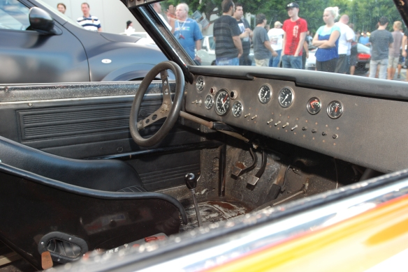1970 BRE Datsun 510, John Morton race car_ interior photo_Cars&Coffee_August 31, 2013