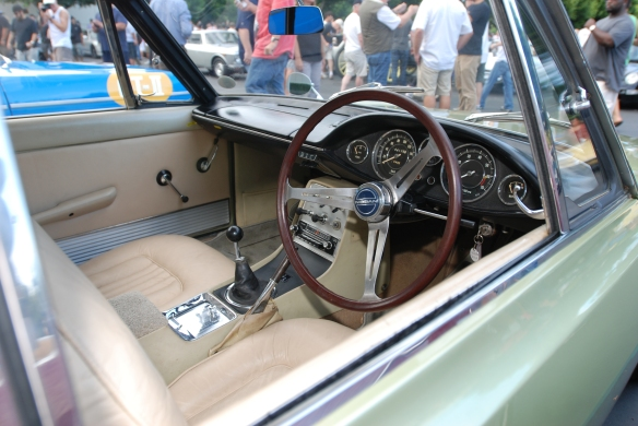 Ice Green 1966 Sylvia (model CSP 311)_ interior, right hand drive _Cars&Coffee_ August 31, 2013