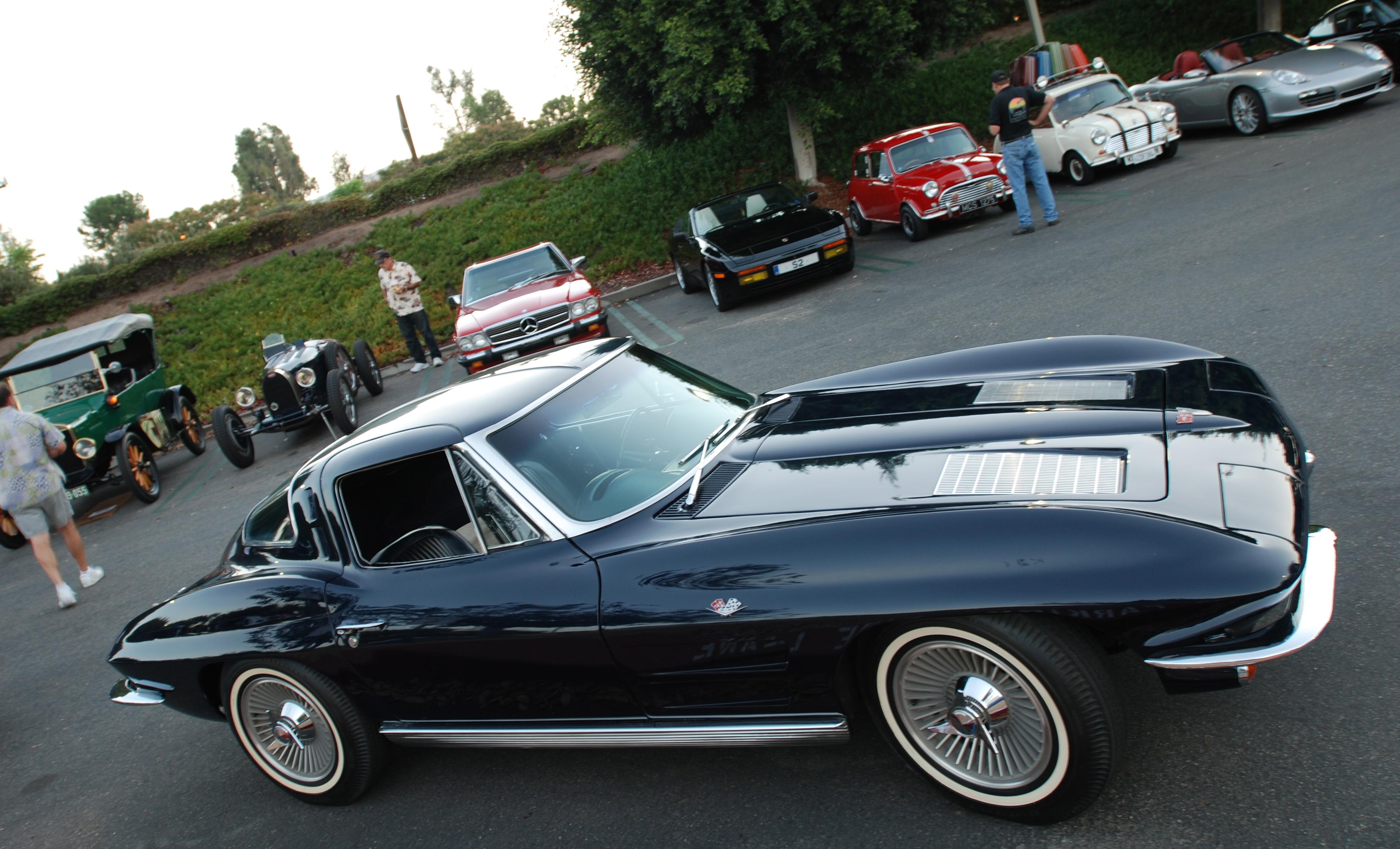 daytona blue 1963 corvette split window coupe 3 4 side view cars. Cars Review. Best American Auto & Cars Review