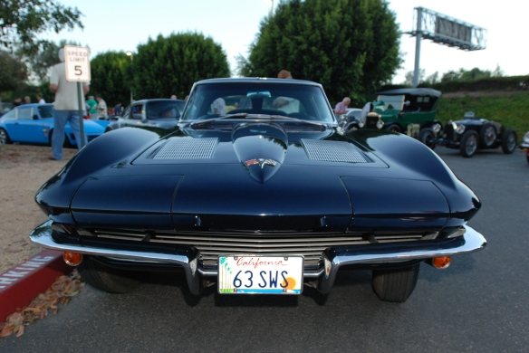 Daytona Blue 1963 Corvette Split window coupe_front view_Cars&Coffee_9/07/13