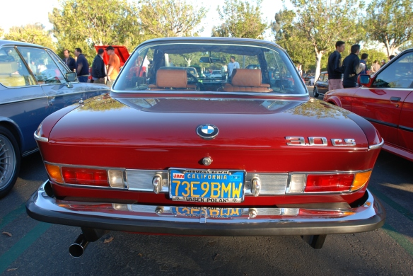 Malaga / Burgundy BMW 3.0 CS model_ rear view_cars&coffee/irvine_10/05/13