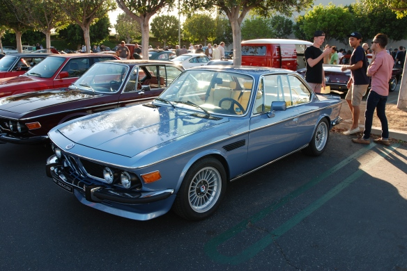 A pair of E9 BMW 3.0 CS models_3/4 front view_cars&coffee/irvine_10/05/13
