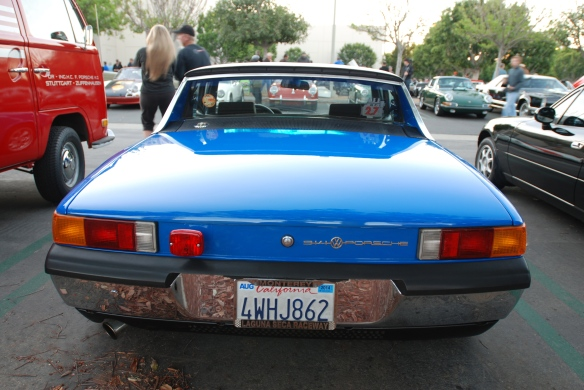 Adriatic Blue 1970 Porsche 914 with upgraded 2.7 Carrera RS motor_rear view / European rear badging_cars&coffee/Irvine_10/19/13