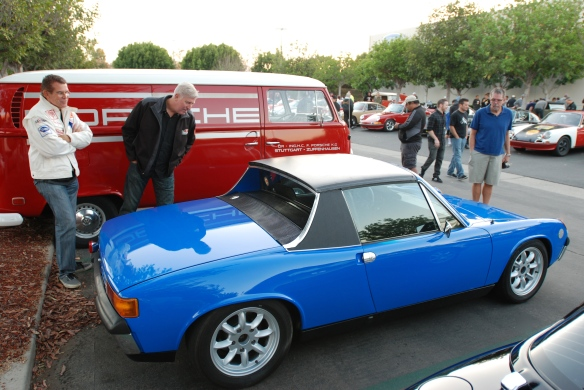 Adriatic Blue 1970 Porsche 914 with upgraded 2.7 Carrera RS motor_3/4 side view_cars&coffee/Irvine_10/19/13