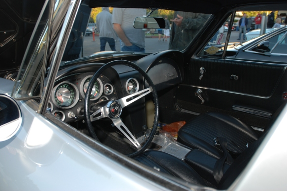 1963 Sebring silver Corvette Sting Ray split window coupe_ interior view_cars&coffee/irvine_November 2, 2013