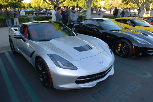 2014 Blade Silver Corvette Sting Ray_3/4 front view_cars&coffee/irvine_November 2, 2013