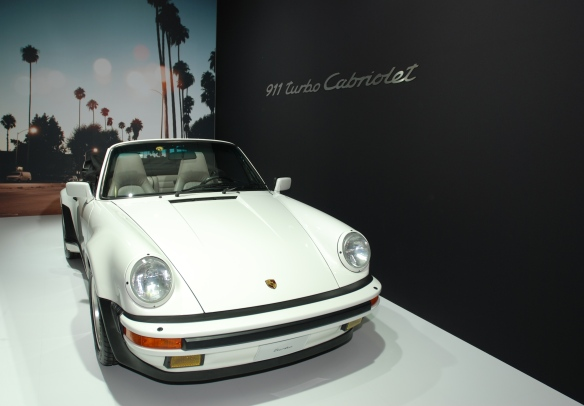 Grand Prix white 1989 Porsche 911 Turbo Cabriolet_3/4 front view_LA Auto show_November 23, 2013