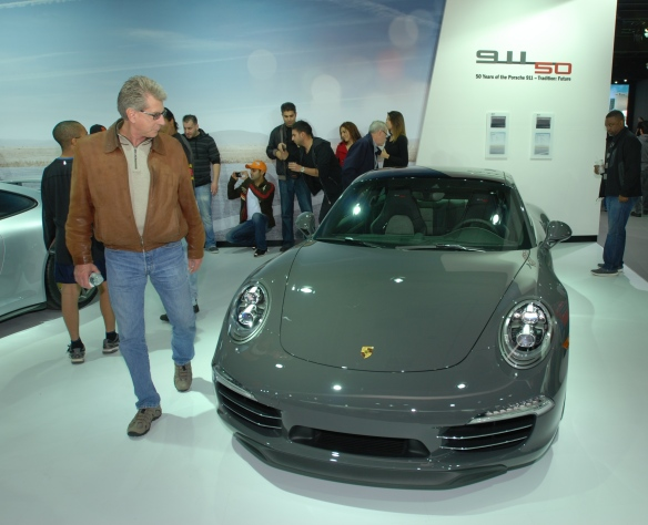 2014, 50th Anniversary Edition Porsche 991_ front view_LA Auto show_November 23, 2013