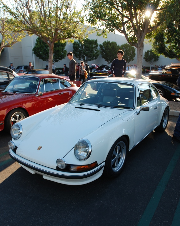 Grand Prix white 1972  Porsche 911GT_3/4 front view_cars&coffee_ December 14, 2013