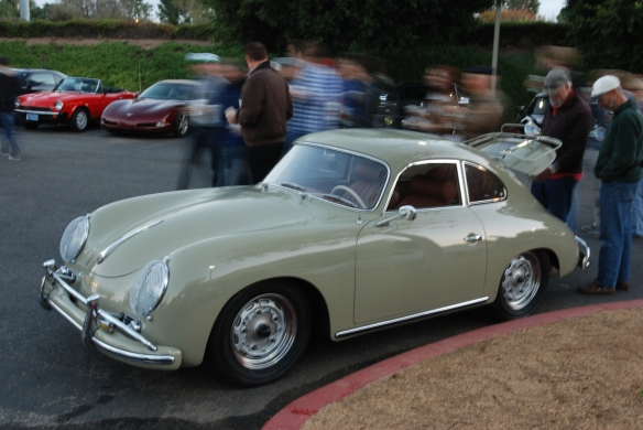 1959 Porsche 356A coupe_3/4 front view_cars&coffee_December 28, 2013
