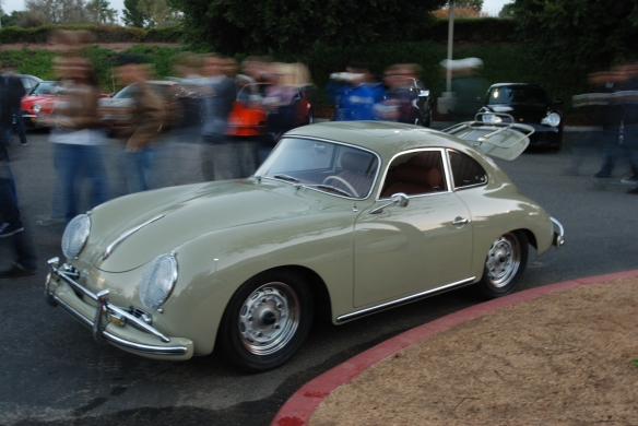 1959 Porsche 356A coupe_3/4 front view time lapse_cars&coffee_December 21, 2013