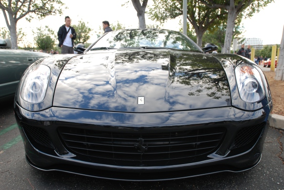 Black Ferrari 599 coupe_front view_cars&coffee/irvine_November 30, 2013