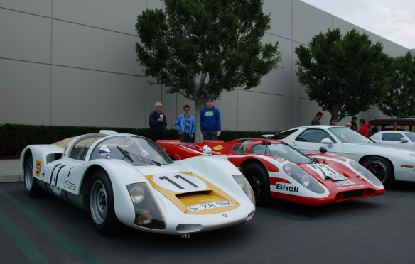 1966 Porsche Carrera 906 &1970 Porsche 917 recreation_3/4 front view_cars&coffee/irvine_January 25, 2014