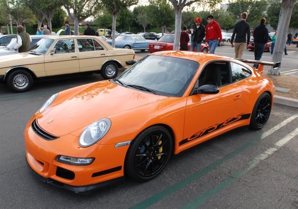 Orange 2007 Porsche 911 GT3RS_3/4 side view_ Cars&Coffee/Irvine_January 4, 2014