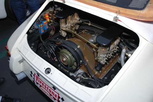 1967 Porsche 911R #001_1991 cc race motor, 3/4 rear view_cars&coffee/irvine_january 25, 2014