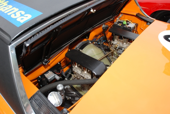1970 Signal Orange Lufthansa Porsche 914-6 GT with Porsche race cars_ motor detail_cars&coffee/irvine_january 25, 2014