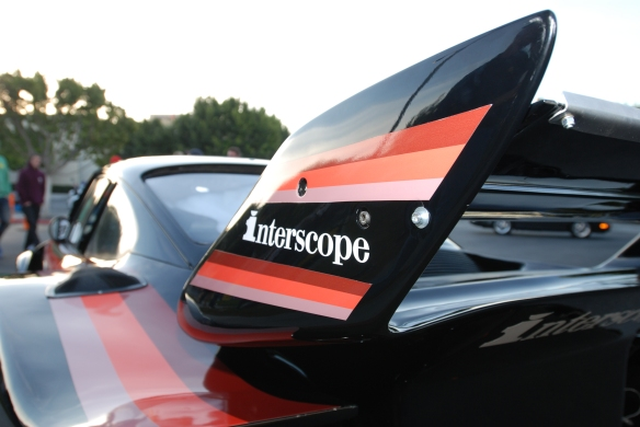 Interscope Racing 1978 Porsche 935_rear wing detail & fender reflections_cars&coffee/irvine_February 15, 2014