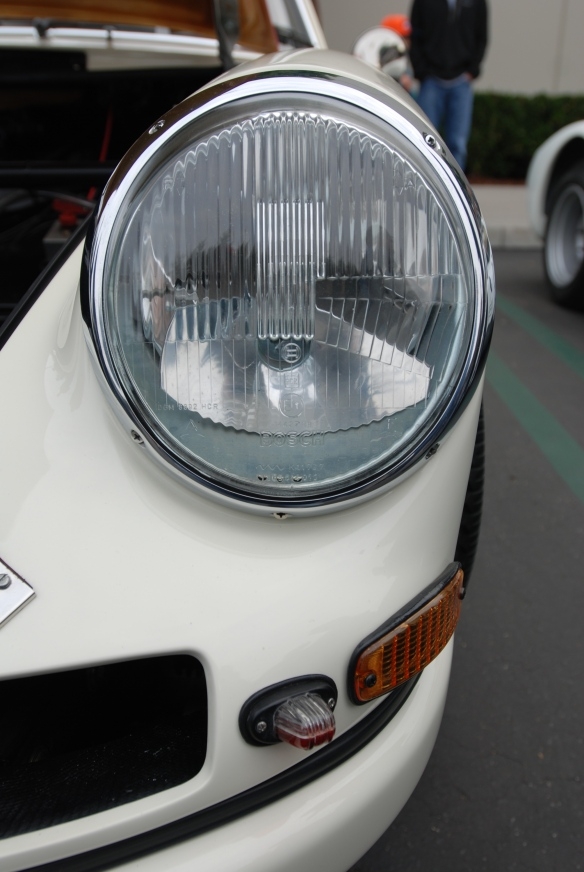 1967 Porsche 911R #001_Bosch H1 headlight with model specific running lights _cars&coffee/irvine_january 25, 2014